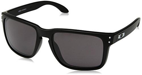 Oakley Men's OO9417 Holbrook XL Square Sunglasses, Matte Black/Warm Grey, 59 ()