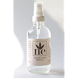 Cucumber Mint Hydrosol 4 oz - All Natural Facial Toner And Aromatherapy Mist Made With Organic Ingredients - No Preservatives