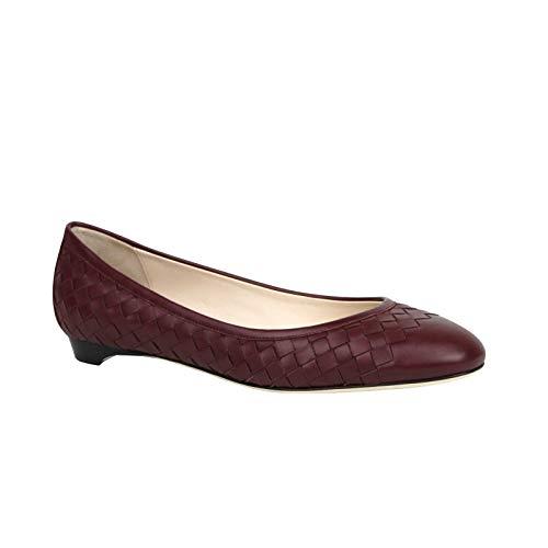 Bottega Veneta Women's Intrecciato Burgundy Leather Flat Slippers 428864 2240 (EU 40 / US 10)