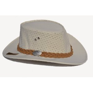 Aussie Chiller Outback Bushie Chiller Golf Hat - Pearl White - X-Large