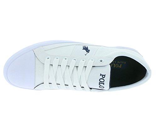 A85 Ralph Schuhe Herren Weiß Turnschuhe C0225 Y2126 Sneaker Polo Weiß A1557 Lauren Churston HwS6x