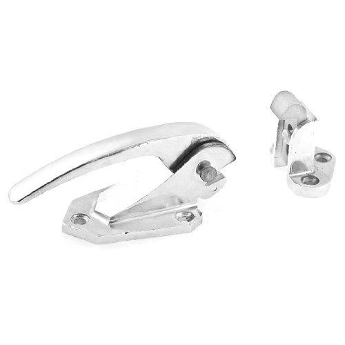 Water & Wood Adjustable Sliver Tone Industrial Oven Door Lock Pull Handle Latch