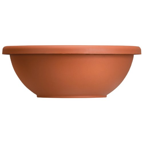 Akro Mils GAB14000E35 Garden Bowl with Removable Drain Plugs, Clay Color, 14-Inch