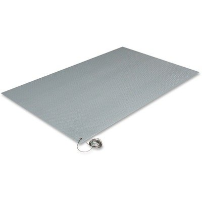 Crown ZC0023GY Antistatic Comfort-King Mat, Sponge, 24 x 36, Steel Gray by Crown