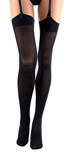 Black Opaque Stockings (Sandra 70 Den Opaque Stockings Color: Nero - Black Size: 3 (Large))
