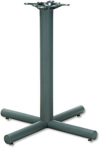 - HON XSP26P Single Column Steel Base, 26w x 26d x 27-7/8h, Black