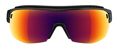 Adidas lunettes zonyk Aero Midcut Pro AD11 Small 9200 Black Mat Red Mirror