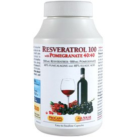 Resveratrol-100 with Pomegranate 40-40 360 Capsules by Andrew Lessman