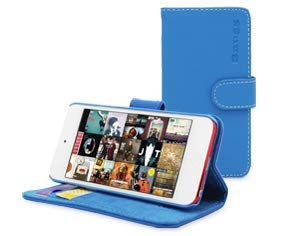 Snugg iPod Touch Case 5 / 6 / 7 Gen, Electric Blue Leather Flip Case [Card Slots] Executive Apple iPod Touch Wallet Case Cover and Stand Legacy Series 5th / 6th / 7th Generation
