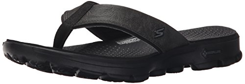 Skechers Performance Men's Gowalk-54250 Flip Flop,Black/Black,10 M US