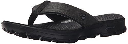 (Skechers Performance Men's Gowalk-54250 Flip Flop,Black/Black,11 M US)