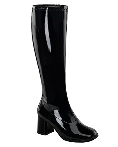 Womens Knee High Boots GOGO 3 Inch WIDE CALF Sexy Block Heel