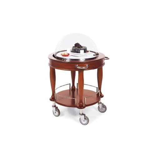 Lakeside Geneva Wood Veneer Bordeaux Finish Dessert Cheese Cart, 29 1/2 x 29 1/2 x 43 3/8 inch Overall Size - 1 ()