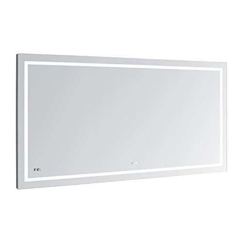 AQUADOM Daytona, 60in x 30in x1in, Ultra-Slim Frame, LED Lighted Silver Mirror -
