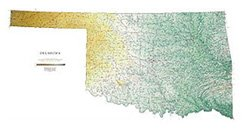 Amazon.com: Oklahoma Topographic Map by Raven Maps, Print on Paper ...
