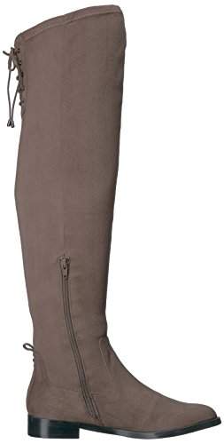Kenneth Cole REACTION Frauen Windspiel über dem Knie Stretch Low Heel Winterstiefel Dunkler Pilz