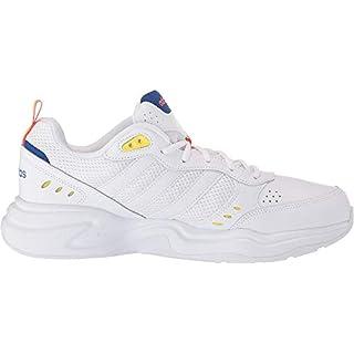 adidas Men's Strutter Sneaker, ftwr White/ftwr White/shock yellow, 8.5