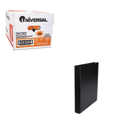 KITUNV21200UNV31401CT - Value Kit - Universal Suede Finish Vinyl Round Ring Binder (UNV31401CT) and Universal Copy Paper (UNV21200)