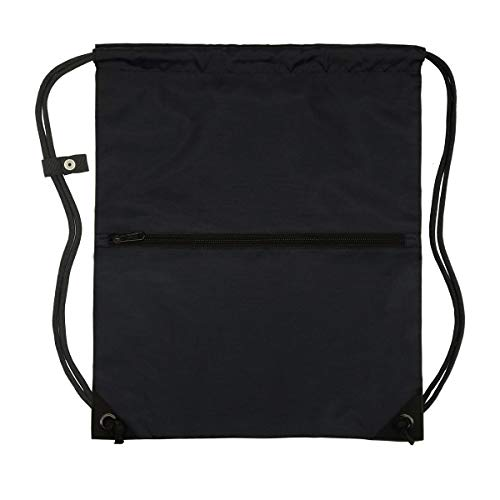 - Men & Women Outdoor Sport Gym Sack Waterproof Drawstring Backpack Bag(Black)
