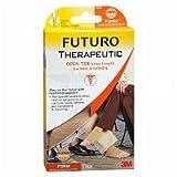 FUTURO Open Toe Knee Length for Men & Women, Firm, Beige, X Large - 2pc