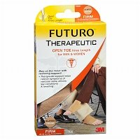 FUTURO Open Toe Knee Length for Men & Women, Firm, Beige, X Large - 2pc by FUTURO
