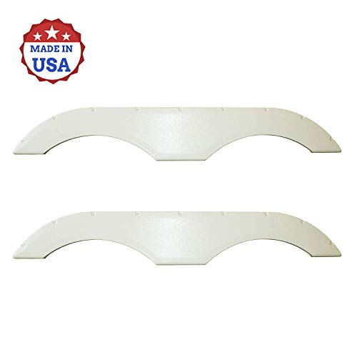 USAMADE Universal Fit Trailer RV Fender Skirts, Tandem Pair, Perfect for RV Campers and Trailers (All Trailer Fenders)