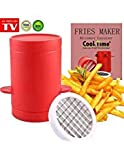 Potatoes Maker French Fries Maker Ptatoes slicer and Chipper 2 in 1 Fries Cutter Machine and Microwave Container As Seen on TV (1pk potatoes maker)