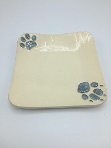 Pet food bowl with paw prints (blank) by Goldberg Judaica