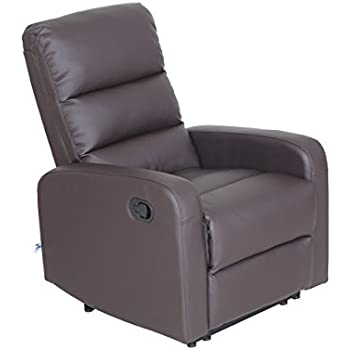 Recliner Chair Faux Leather PU Leather Ergonomic Design (1 Seater) Brown  sc 1 st  Amazon.com & Amazon.com: Recliner Chair Faux Leather PU Leather Ergonomic ... islam-shia.org