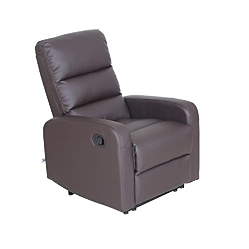 Gentil VH FURNITURE Recliner Chair Faux Leather PU Leather Ergonomic Design (1  Seater), Brown