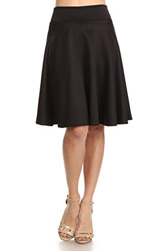 6150c216104 Jual Women s Midi Skater Skirt Flared Stretch Skirt for Women - Made ...