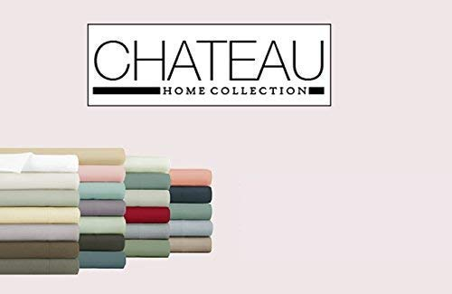 """CHATEAU HOME COLLECTION 4-Piece Sheet Set 100% Egyptian Cotton 800 Thread Count 16 inches Deep Pockets (fit Upto 18"""" mattresses) Solid Sateen Weave Hotel Luxurious Soft Comfort Bedding (Queen, White)"""