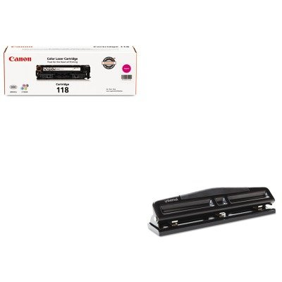 2660b001 Toner - KITCNM2660B001UNV74323 - Value Kit - Canon 2660B001 118 Toner (CNM2660B001) and Universal 12-Sheet Deluxe Two- and Three-Hole Adjustable Punch (UNV74323)
