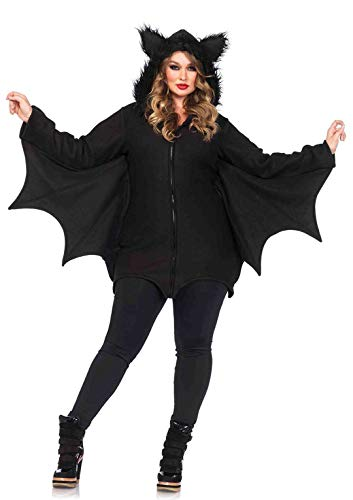 Halloween Costume Vampire Woman (Leg Avenue Women's Plus Size Cozy Bat, Black, 3X/)