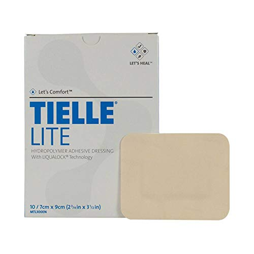 Tielle Hydropolymer Adhesive Dressings - TIELLE Lite Hydropolymer Adhesive Dressing, MTL301EN, 4.25