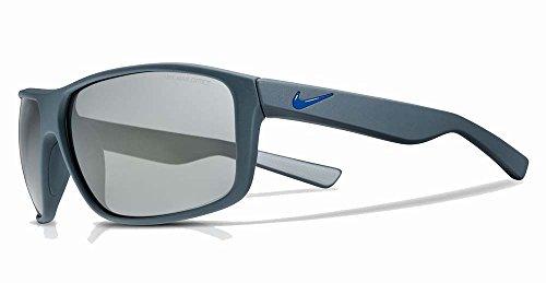 Nike EV0792-402 Premier 8.0 Sunglasses (Frame Grey with Gunmetal Flash Lens), Matte Squadron Blue/Racer - Sunglasses Racer Nike
