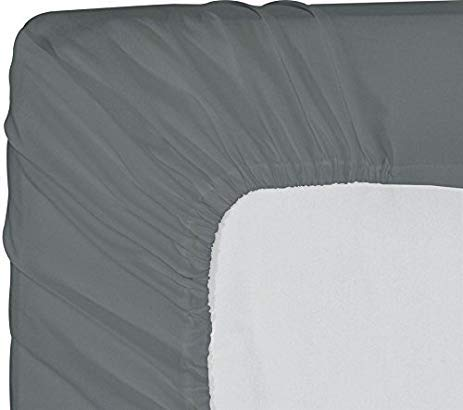 8 inches Deep Pocket 800 Thread Count Egyptian Quality Cotton Solid Pattern King Sky Blue Bottom Sheet Only Premium Quality 1 Piece Fitted Sheet