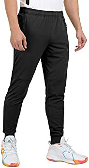 Little Donkey Andy Men's Lightweight Stretch Workout Running Tapered Joggers Quick Dry Athletic T