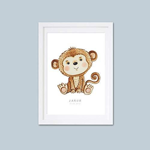 Affe Bild Kinderbild Kinderposter Kinderzimmerbilder Safari ...