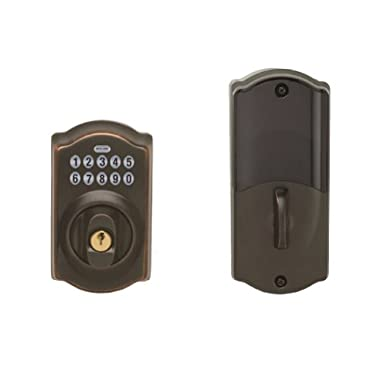 Schlage LiNK Wireless Keypad Add-on Deadbolt, Aged Bronze