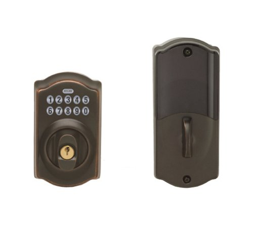 Schlage LiNK Wireless Keypad Add-on Deadbolt, Aged Bronze Schlage