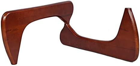 Rimdoc Coffee Table Feet, Vintage End Table Wooden Base Holder Furniture Legs for Triangle Rectangular Oval Round Desktop Cherry Base Holder