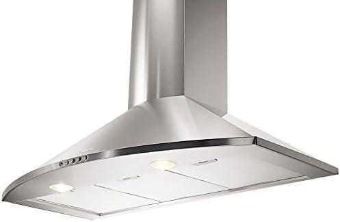 Mepamsa H 90X CAMPANA TENDER 90 INOX, 28 W, 55 Decibelios, Acero, 3 Velocidades: Amazon.es: Grandes electrodomésticos