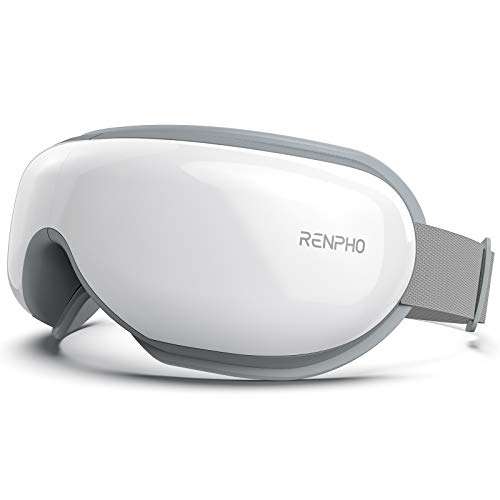 RENPHO Eye Massager with Heat, Compression, Bluetooth Music Rechargeable Eye Therapy Massager for Relieve Eye Strain Dark Circles Eye Bags Dry Eye Improve Sleep