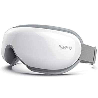RENPHO-Eye-Massager-with-Heat-Compression-Bluetooth-Music-Rechargeable-Eye-Heat-Massager-for-Relax-and-Reduce-Eye-Strain-Dark-Circles-Eye-Bags-Dry-Eye-Improve-Sleep-Ideal-Family-GiftsWhite