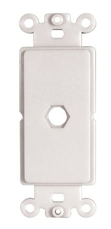 Adaptiplate White Decora Hex Style Wall Plate - One Hex Hole