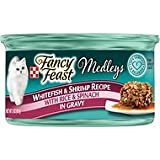 Fancy Feast Medleys Tastemakers Whitefish & Shrimp Recipe with Rice & Spinach in Gravy, 3-oz, case of 12 For Sale