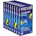 Maxell 214150 T120GX/8PK VHS Cassette Standard Grade T-120, 6 Hour - 8 Pack from Maxell