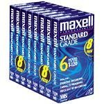 Maxell 214150 T120GX/8PK VHS Cassette Standard Grade T-120, 6 Hour - 8 Pack by Maxell