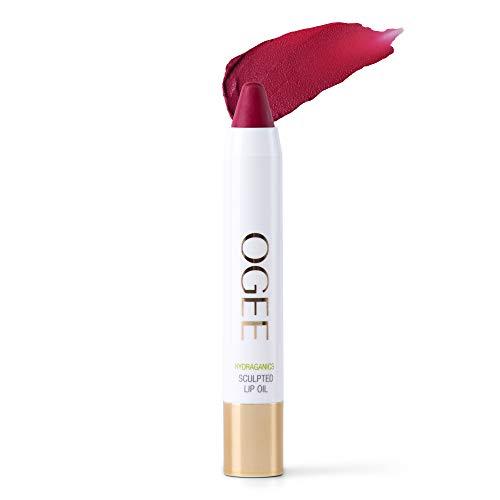 Ogee Sculpted Tinted Lip Oil - Organic & Natural Lip Primer, Moisturizer & Treatment Balm - Azalea (Vibrant Fuchsia Color)